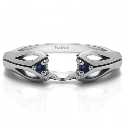 0.04 Ct. Sapphire Leaf Cut Out Ring Wrap