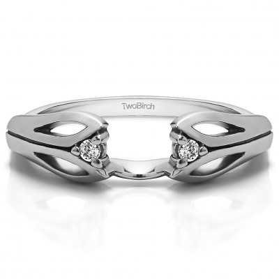 0.04 Ct. Leaf Cut Out Ring Wrap