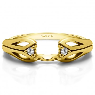 0.04 Ct. Leaf Cut Out Ring Wrap  in Yellow Gold