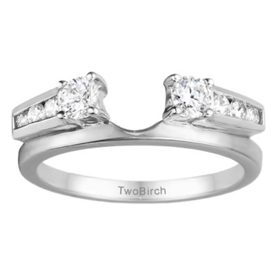 0.5 Ct. Round Channel and Prong Set Solitaire Ring Wrap