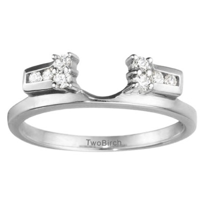 0.16 Ct. Prong and Channel Ring Wrap Enhancer