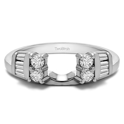 0.32 Ct. Round and Baguette Channel and Prong Ring Wrap Jacket