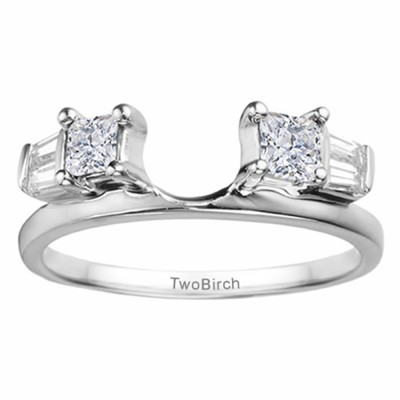 0.68 Ct. Princess and Baguette ring wrap
