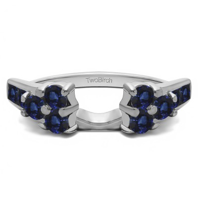 0.26 Ct. Sapphire Cluster ring wrap
