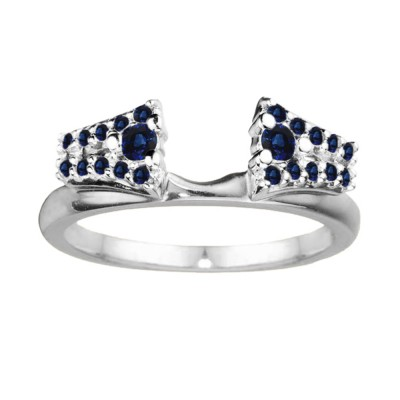 0.3 Ct. Sapphire Double Row ring wrap