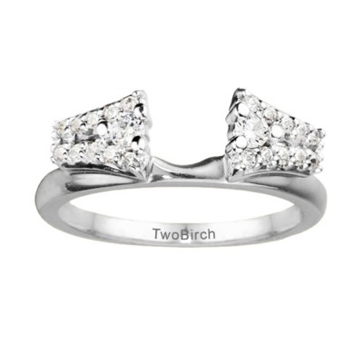 0.5 Ct. Double Row ring wrap