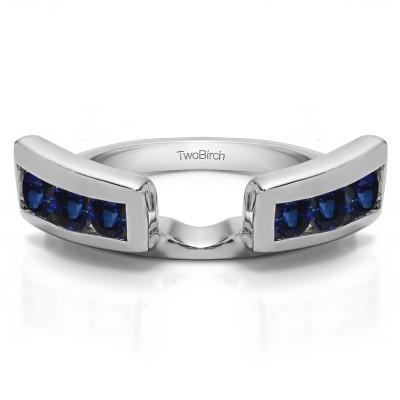 0.24 Ct. Sapphire Six Stone Channel Set Ring Wrap Jacket