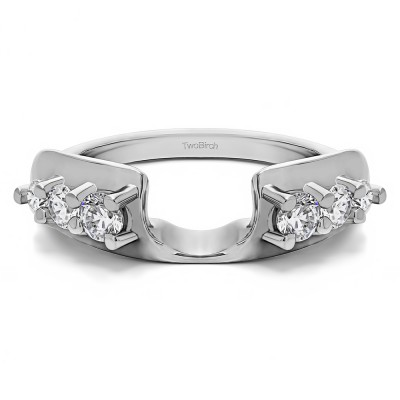 0.5 Ct. Six Stone Shared Prong Graduated Ring Enhancer