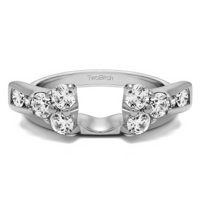 0.5 Ct. Prong Cluster and Channel Set Ring Wrap Enhancer
