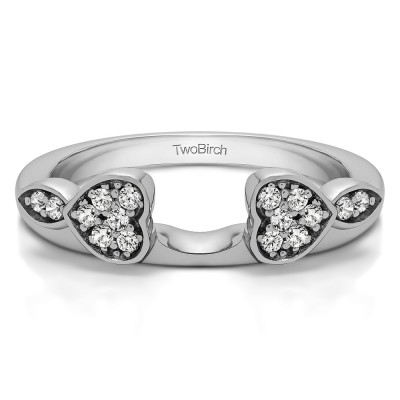 0.16 Ct. Heart Shaped Anniversary Ring Wrap