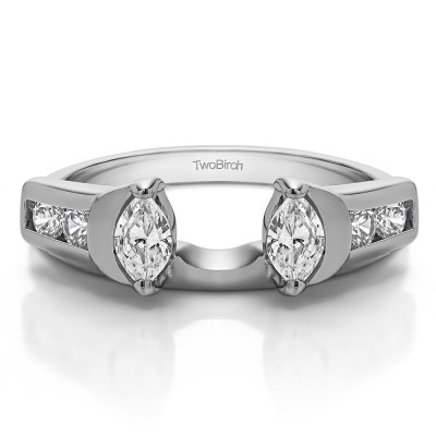 0.48 Ct. Marquise and Round Channel ring wrap