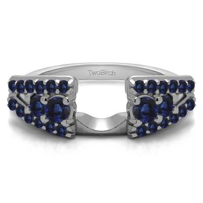 0.44 Ct. Sapphire Triple Row Round Ring Wrap