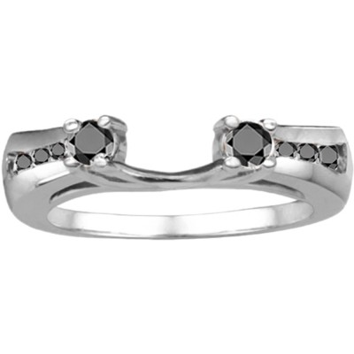 0.5 Ct. Black Round Prong and Channel ring wrap