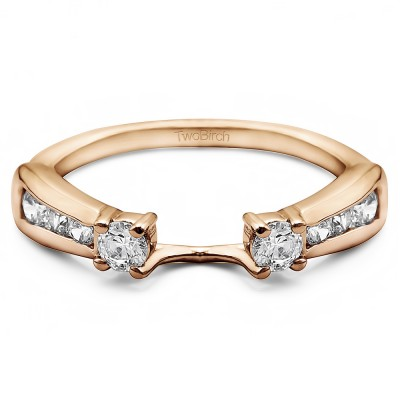 0.25 Ct. Round Prong and Channel ring wrap in Rose Gold