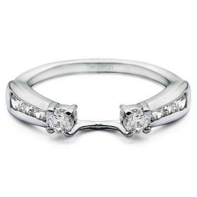 0.5 Ct. Round Prong and Channel ring wrap