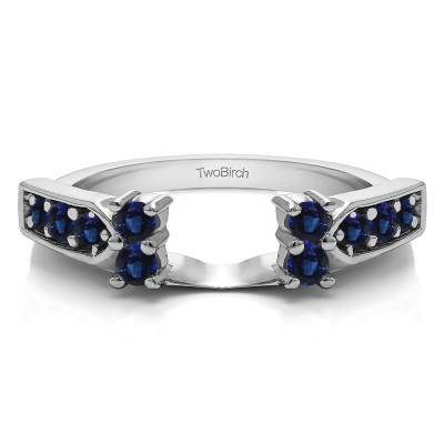 0.33 Ct. Sapphire Millgrained Prong and Channel Ring Wrap