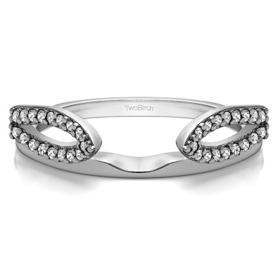0.25 Ct. Infinity Loop Cathedral Ring Wrap