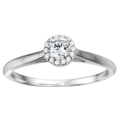 0.25 Carat Perfect Halo Promise Ring