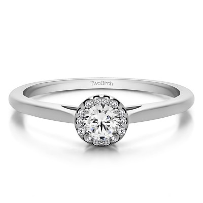 0.32 Ct. Round Solitaire with Halo