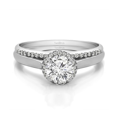 Perfect Round Halo Engagement Ring Bridal Set (2 Rings) (0.85 Ct. Twt.)