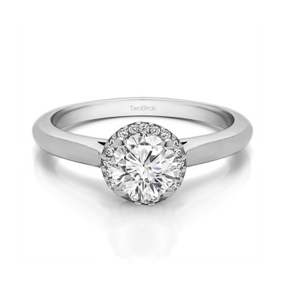 0.75 Ct. Perfect Round Halo Engagement Ring