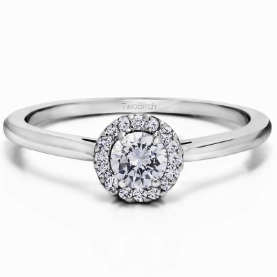 0.48 Carat Accented Solitaire Promise Ring