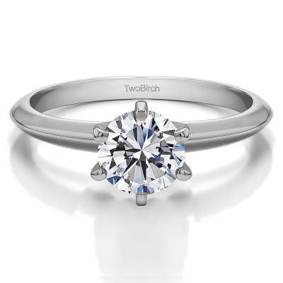 0.5 Carat Round Traditional Style Solitaire