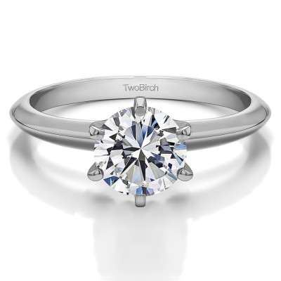 0.75 Carat Round Traditional Style Solitaire