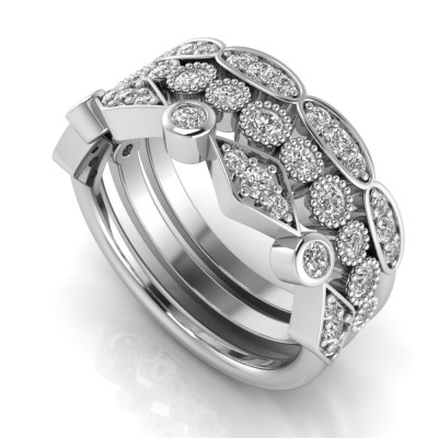3-Piece Anniversary Stackable Ring Set