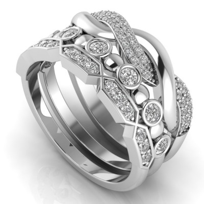3-Piece Anniversary Ring Stack Set