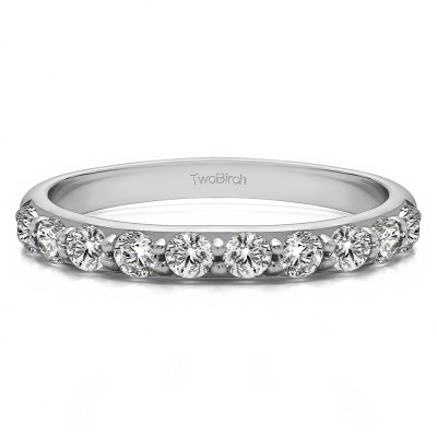 0.5 Carat 10 Stone Delicate Prong Set Wedding Band