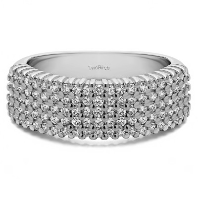 1 Carat Multi Row Common Prong Wedding Ring