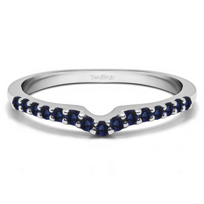 0.25 Ct. Sapphire Delicate Notched Contour Band