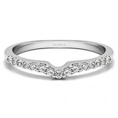 0.25 Ct. Delicate Notched Contour Band