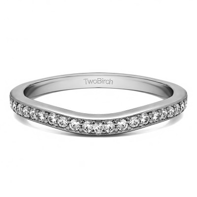 0.42 Ct. Dainty Curved Round Shared Prong Tracer Band