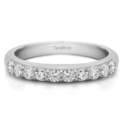 0.5 Carat Common Prong Set Wedding Ring