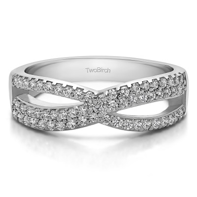 0.47 Carat Criss Cross Promise Ring