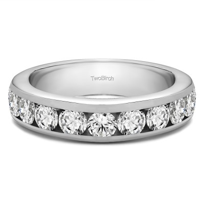 0.5 Carat 10 Stone Channel Set Wedding Ring