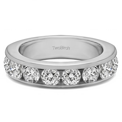 2 Carat Eight Stone Open Ended Channel Set Wedding Ring