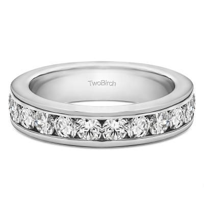 0.5 Carat Twelve Stone Channel Set Straight Wedding Ring