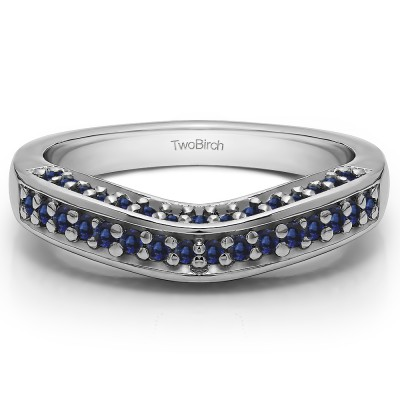 0.35 Ct. Sapphire Three Sided Contour Band