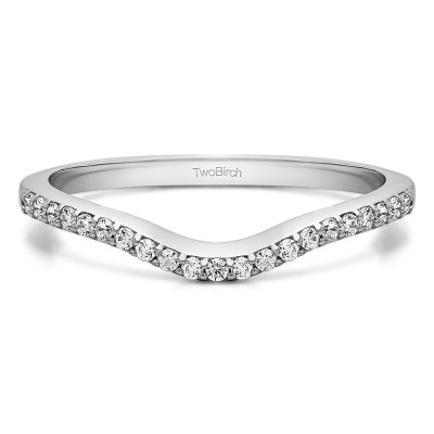 0.16 Ct. Twenty-One Stone Dainty Contour Wedding Band