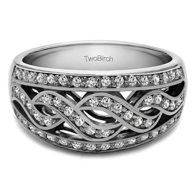 0.54 Carat Infinity Braid Pave Set Wedding Ring
