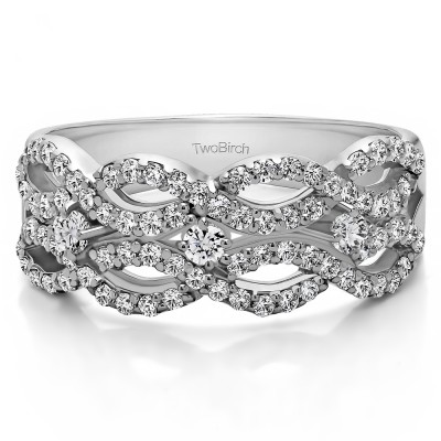0.71 Carat Criss Cross Promise Ring