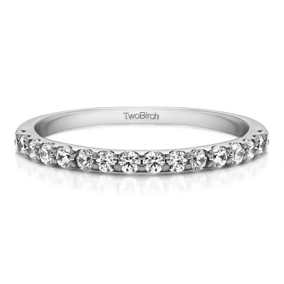 0.48 Carat Double Shared Prong Wedding Band