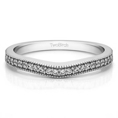 0.23 Carat Millgrained Curved Matching Band