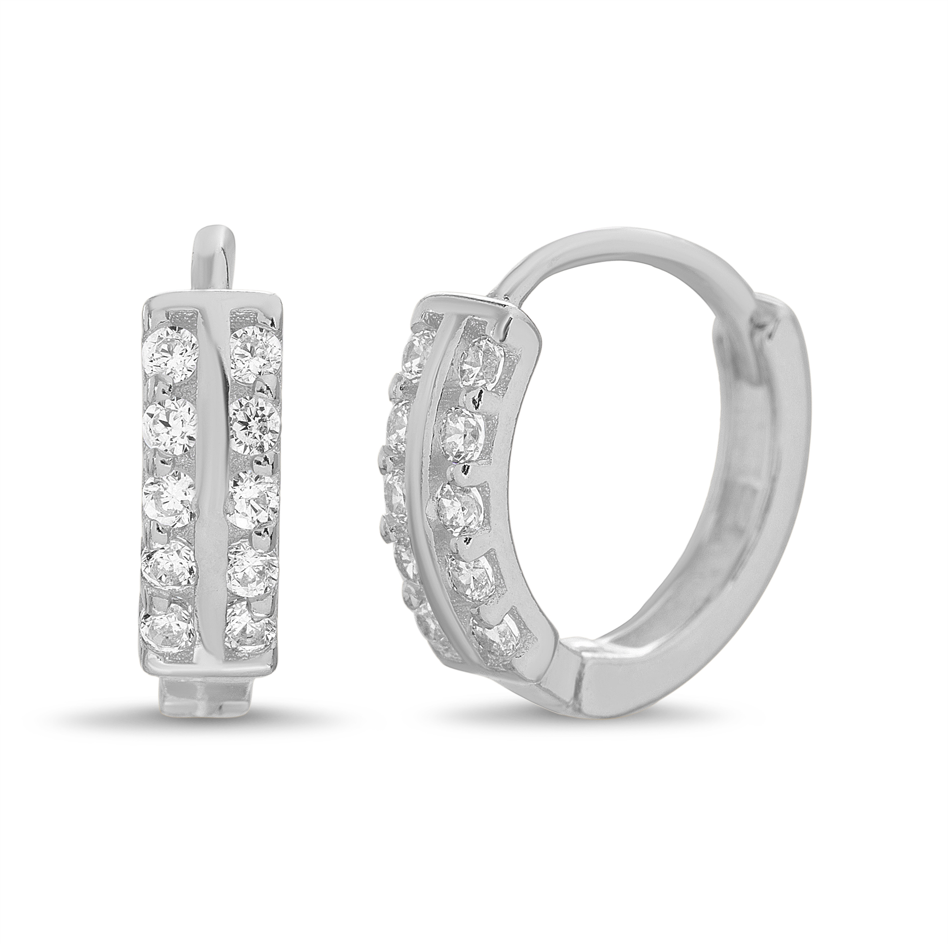 14K Yellow Gold Plated Round Hoop Earrings Set